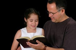 Steve's Emails - Father and daughter with Bible2