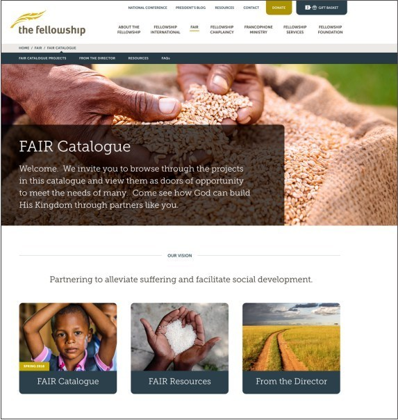 new site FAIR catalogue page