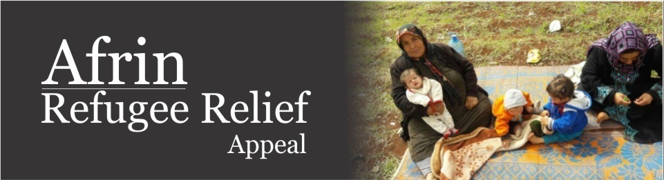 Header announcing the Afrin Refugee Relief appeal