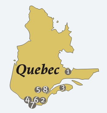 French Missions - quebec map test